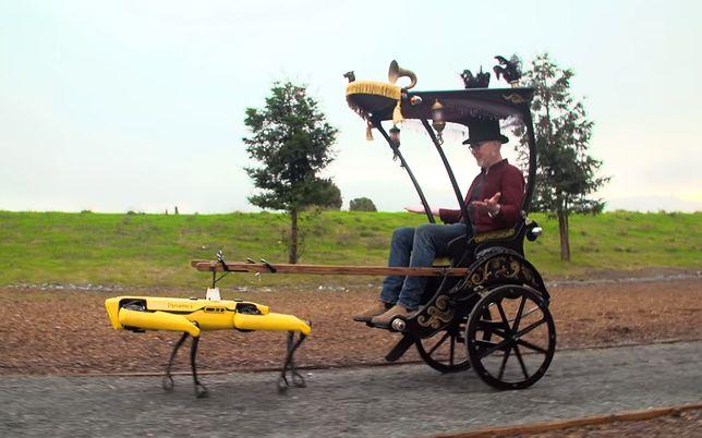 Spot od Boston Dynamics w roli dorożki