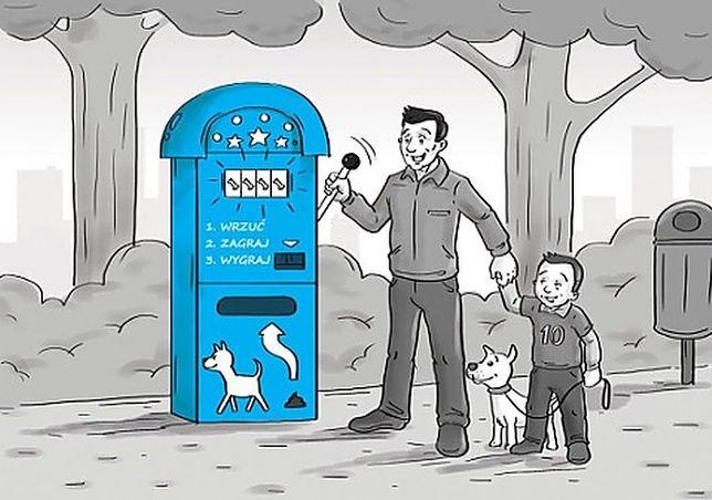 Jednoręki bandyta wylosuje nagrody za... psie kupy