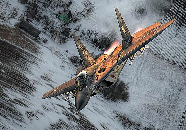 Polskie myśliwce w akcji nad Litwą - zdjęcia