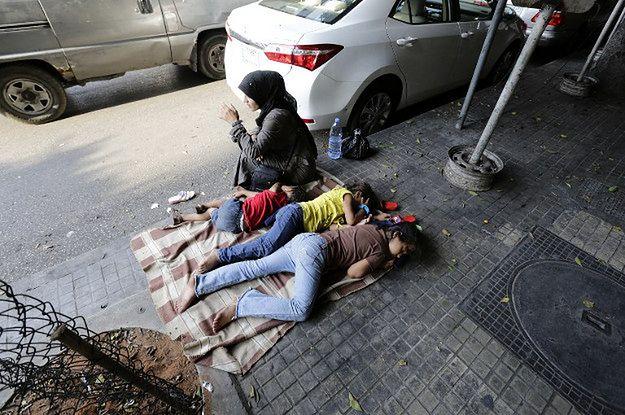 Syryjska uchodźczyni w Bejrucie