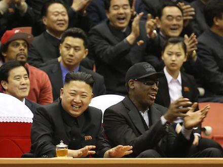 """Dennis Rodman """"przyjacielem na całe życia"""" Kim Dzong Una"""