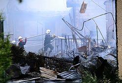 Wielki pożar budynku socjalnego w Pyrzycach