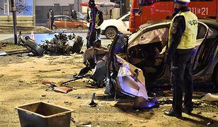 Łódź. Kierowca BMW zatrzymany. 6 rozbitych samochodów