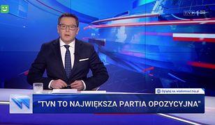 """""""Wiadomości"""" znowu uderzają w TVN. """"To największa partia opozycyjna"""""""