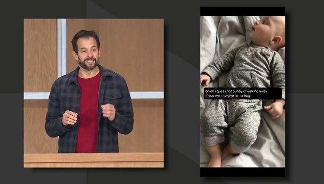 Napisy na żywo w Androidzie, fragment prezentacji Google I/O 2019, źrodło: Google.