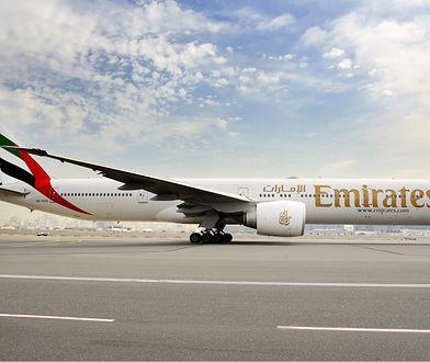 Samolot Boeing 777-300ER firmy Emirates Airlines.