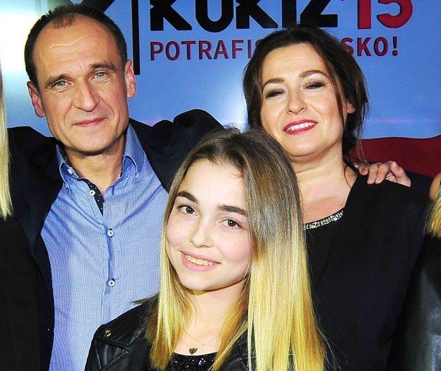 Paweł Kukiz z żoną Małgorzatą i córką Hanią