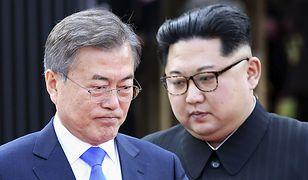 Przywódcy Korei Południowej i Północnej w czasie spotkania na granicy