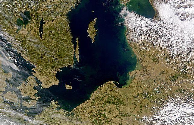 Morze Bałtyckie na zdjęciu satelitarnym