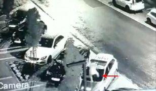 Warszawa. Uszkodził radiowóz, bo ma bogatego tatę, który zapłaci za szkody