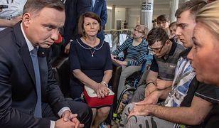 Andrzej Duda i Iwona Hartwich, szefowa komitetu protestacyjnego
