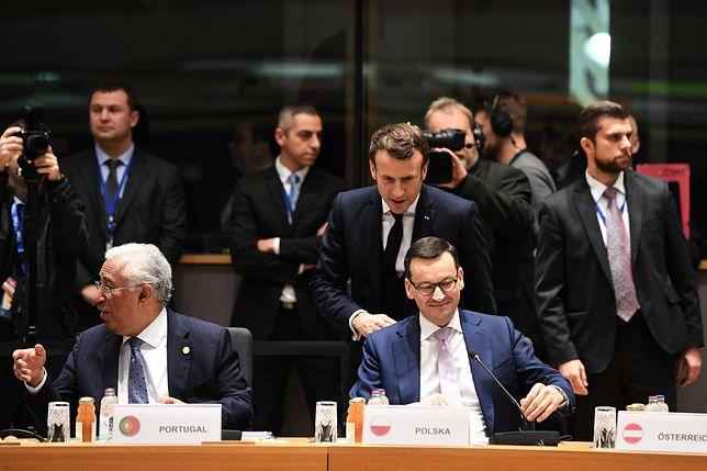 Emmanuel Macron przyjedzie do Polski. Na zdjęciu z Mateuszem Morawieckim.