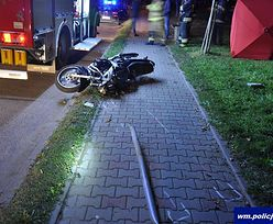 Tragiczna śmierć motocyklisty. Nie miał uprawnień i jechał bez kasku