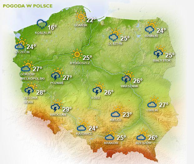 Prognoza pogody na 29 i 30 maja. Możliwe burze z gradem. Ostrzeżenie IMGW