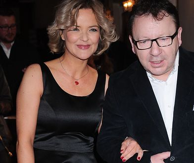 Zbigniew Zamachowski z żoną Moniką.