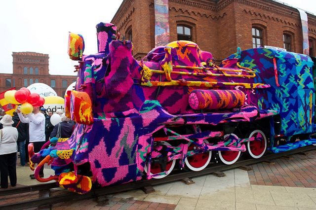 Zobacz, jak ubrali 60-tonowy pociąg