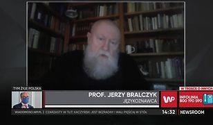 """Prof. Bralczyk o przekleństwach na Strajku Kobiet. """"Rozumiem emocje, ale..."""""""