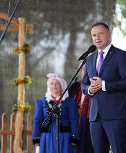 Andrzej Duda na dożynkach w Zbylitowskiej Górze. Podziękowania rolnikom
