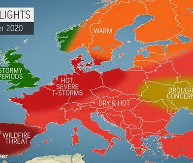 Pogoda długoterminowa na lato dla Polski. Amerykańscy meteorolodzy przewidują upały i gwałtowne burze