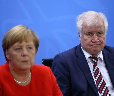 Kanclerz Angela Merkel i szef MSW w jej gabinecie Horst Seehofer