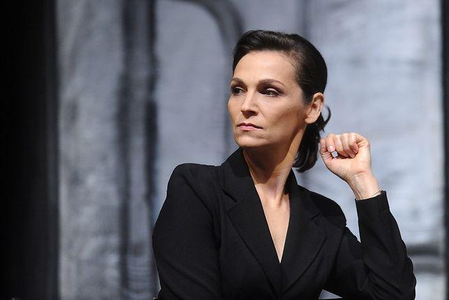 Olga Bończyk w żałobie po Wodeckim