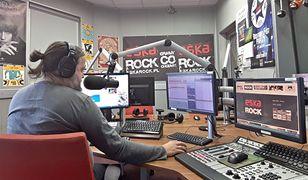 Studio Eski Rock podczas piątkowej audycji