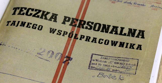 """Okładka teczki personalnej tajnego współpracownika ps. """"Bolek"""""""