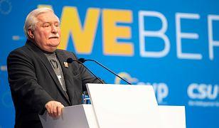 Lech Wałęsa na wiecu partii EPL w Monachium
