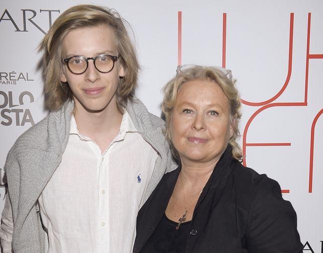 Jovan Jakimowicz z matką Joanną Sarapatą.