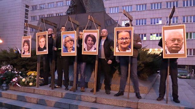 Katowice. Prokuratura ostatecznie umorzyła postępowanie wobec narodowców za wieszanie wizerunków europosłów z PO na szubienicach.