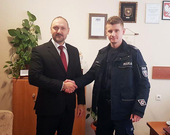 Dyrektor szpitala oraz zatrudniony w placówce policjant