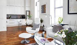 Kuchnia otwarta na salon - jak zaznaczyć granicę między pomieszczeniami?