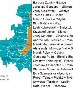 Skąd są posłowie, którzy chcą powiększyć stolicę? Będziecie zdziwieni