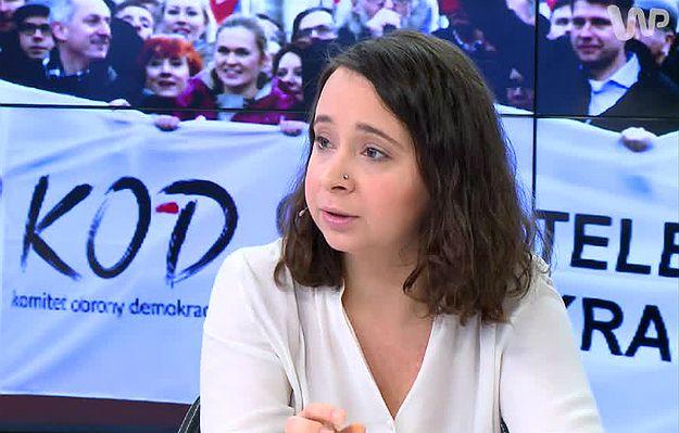 #dziejesienazywo Wielki marsz opozycji i KOD. Marcelina Zawisza: hipokryzją jest dla mnie to, że PO organizuje demonstracje