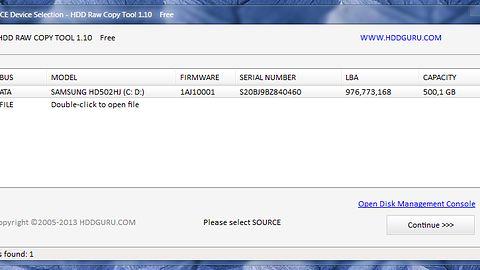 Dekompresja i rekompresja obrazów HDD Raw Copy Tool