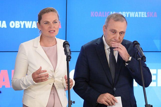 Barbara Nowacka i Grzegorz Schetyna zaprezentowali jedynki Koalicji Obywatelskiej.