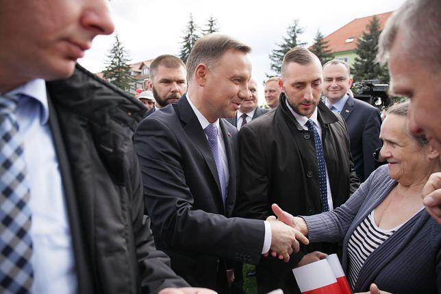 Andrzej Duda spotkał się z mieszkańcami Krosna Odrzańskiego