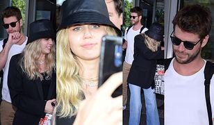 Miley i Liam witają się z fanami