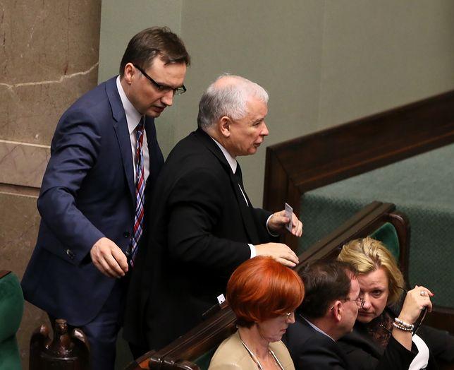 Na spotkaniu z częścią posłów PiS Jarosław Kaczyński miał chwalić Zbigniewa Ziobrę