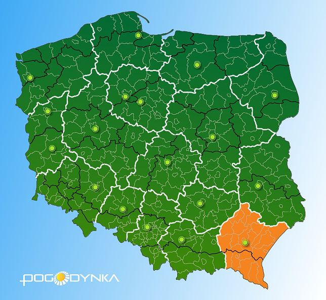 Ostrzeżenia dla południowej Polski