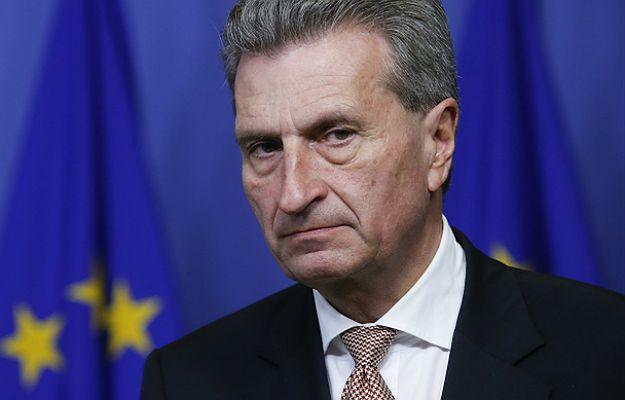 Komisarz UE ds. gospodarki i społeczeństwa cyfrowego Guenther Oettinger