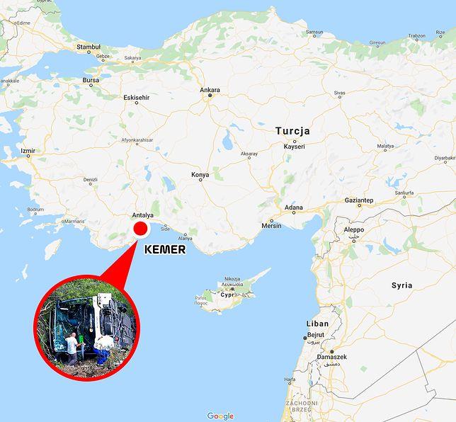 Turcja. Wypadek autokaru z polskimi turystami w miejscowości Kemer