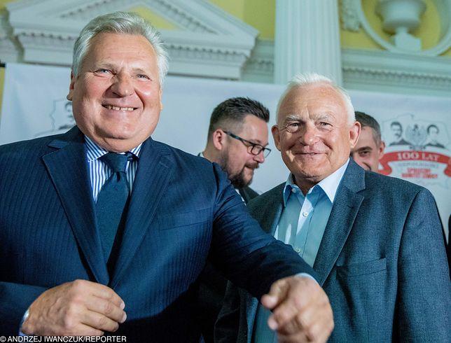 Były prezydent Aleksander Kwaśniewski i były szef rządu SLD-PSL Leszek Miller