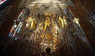 Największy na świecie bursztynowy ołtarz w bazylice św. Brygidy w Gdańsku
