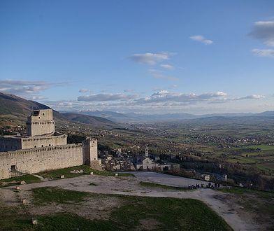 Z Rocca Maggiore widać panoramę Asyżu