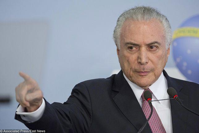 Prezydent Brazylii Michel Temer