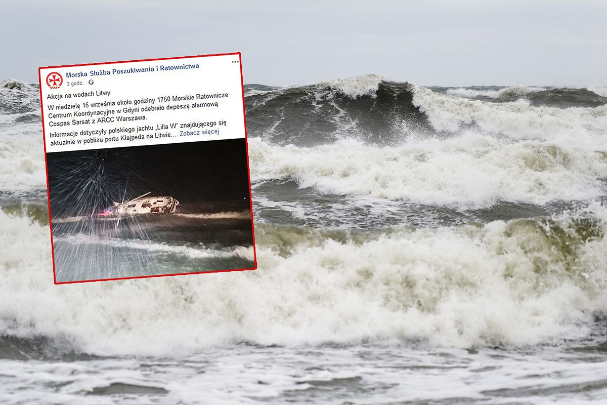 Bałtyk. Wypadek polskiego jachtu. Jedna osoba nie żyje, jedna jest poszukiwana