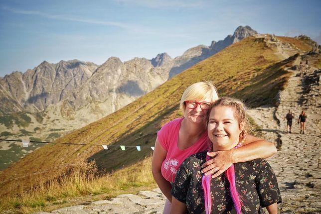 Agnieszka z mamą Janiną