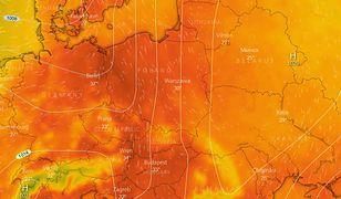 Bruzda niskiego ciśnienia przyniesie gorące powietrze