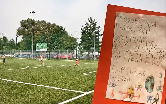 Urocza kartka przedszkolaków. Dzieci poprosiły o udostępnienie boiska